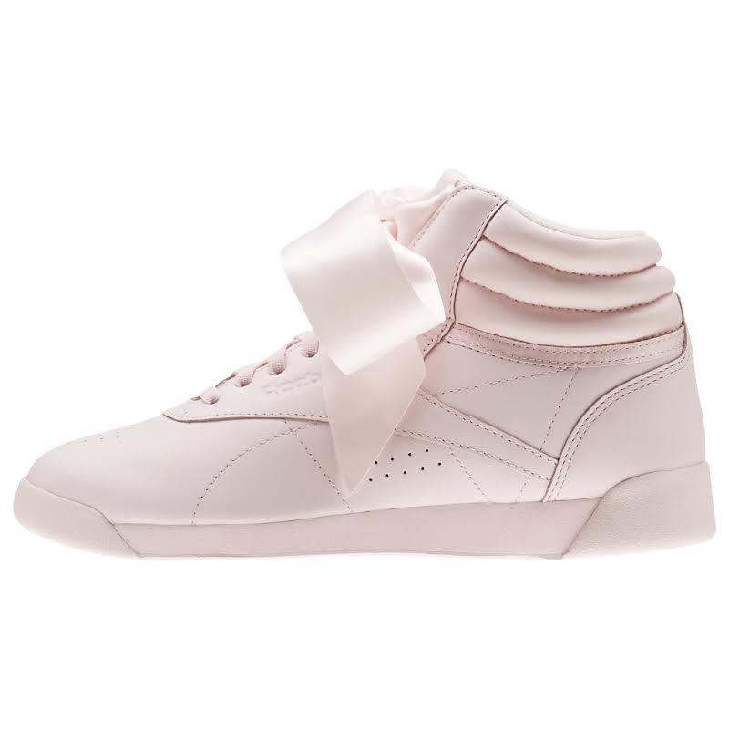 Reebok Freestyle HI Satin Bow Pink/Skull Grey Lifestyle Shoes CM8905