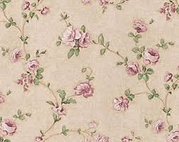 Shabby Chic Pink Wallpaper by Dollhouse Miniature Shabby Chic Wallpaper Pink And Green