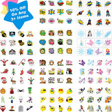 childrens 36 temporary tattoos kids party bag christmas stocking