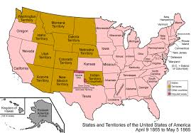 States Of United States Map by Map Of The United States 1866