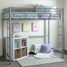bedrooms for girls with bunk beds walker edison twin metal loft bed multiple colors walmart com