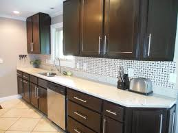 Dark Kitchen Cabinets With Backsplash Black Laminated Wooden Wall Mounted Cabinet Stainless Steel Curved