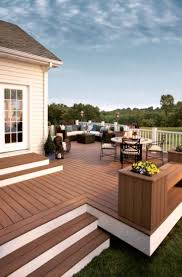 backyard decks and patios ideas best 25 raised deck ideas on pinterest decking ideas hardwood