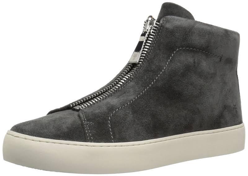 Frye Lena Zip High Hight Top Zipper Fashion Sneakers, Grey,