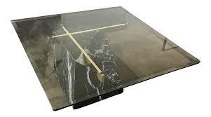 artedi nero marquina marble u0026 brass coffee table chairish