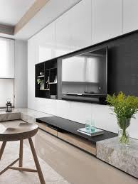 Tv Cabinet Wall Design Tv Unit Wall With Black Background To Hide The Tv Tv Unit