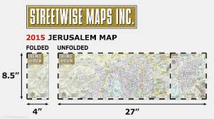 Boystown Chicago Map by Streetwise Jerusalem Map Laminated City Center Street Map Of