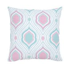 Large Sofa Pillows Back Cushions by Seafoam Aqua And Pink Moroccan Damask Throw Pillow Carousel Designs