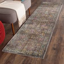 Multicolor Rug Grey Floral Design Area Rug Safavieh Transitional Rugs