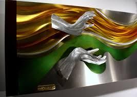 wilmos kovacs original metal wall sculpture abstract home decor