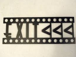 Home Movie Theater Wall Decor Amazon Com Exit Sign Home Theater Decor Metal Wall Art Media