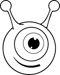 one eye alien coloring page wecoloringpage