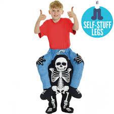 Kids Skeleton Halloween Costume by Kids Skeleton Piggyback Costume Morph Costumes Us