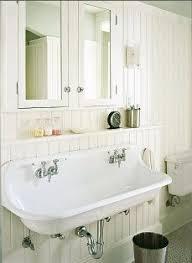 prepossessing farmhouse style bathroom sink in interior home