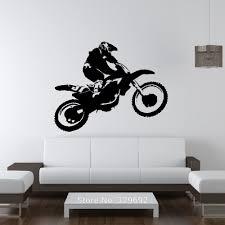 scrambler motorcycle dirt bike wall art car decal sticker diy home scrambler motorcycle dirt bike wall art car decal sticker diy home decoration removable wall decoration bedroom 68x55cm