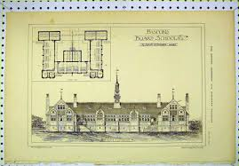 7 print 1878 front elevation basford board schools floor plan