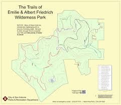 San Antonio Texas Map Friedrich Wilderness Park Hikesa Org
