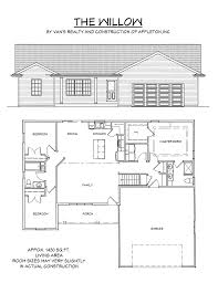 How Many Square Feet Is A 1 Car Garage Floor Plan Van U0027s Realty U0026 Construction