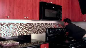 Do It Yourself Backsplash Peel  Stick Tile Kit YouTube - Peel on backsplash