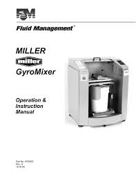 miller gyromixer user manual