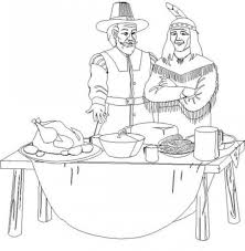 kid thanksgiving coloring pages pilgrim hat holidays coloring
