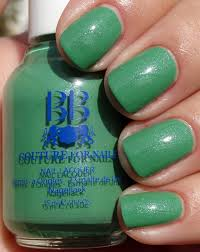 best lush green creme with silver blue shimmer nail polish for women