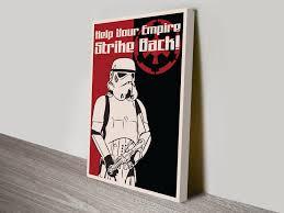 Star Wars Room Decor Australia by Buy Star Wars Pop Art Vintage Posters U0026 Stormtrooper Wall Canvas