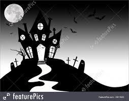 illustration of halloween haunted house
