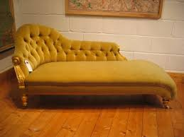 Chaise Lounge With Sofa Bed by Yellow Color Antique Victorian Chaise Lounge Sofa Bed With Wooden