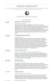 Writer And Editorial Assistant Resume Samples VisualCV