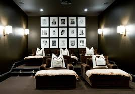 Home Movie Theater Wall Decor Fantastic Movie Room Design With Black Walls Paint Color