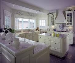 41 white kitchen interior design decor ideas pictures this white kitchen is enlivened by a smattering of purple throughout purple tile flooring
