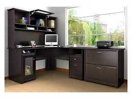 furniture bestar hampton corner workstation with t shaped desk