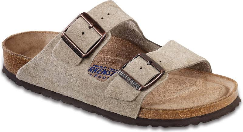 Birkenstock Arizona Soft Footbed Taupe Suede (Narrow Width)