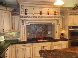 granite countertop white cabinet kitchen ideas refrigerator