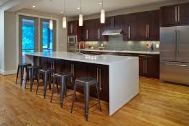 this modern kitchen in a recently built modern prairie style home