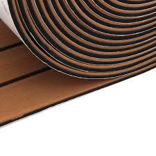 Teak Floor Mat 1250x17x0 5cm Long Brown Eva Foam Boat Flooring Faux Teak Decking