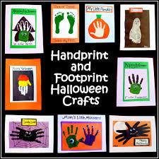 easy halloween crafts handprint and footprint art feltmagnet