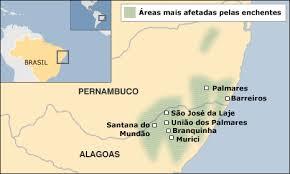 Enchentes em Alagoas e Pernambuco matam mais de 40