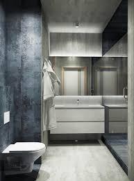modern restrooms horizontal folded drapes black wooden wall panel