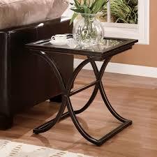 amazon com southern enterprises vogue side end table black with