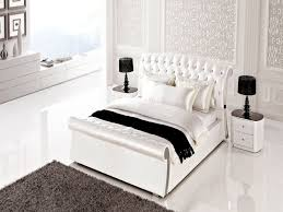 White Leather Bedroom Furniture  DescargasMundialescom - White tufted leather bedroom set