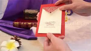 Handmade Farewell Invitation Cards Novel Style Unique Design Red Wedding Invitation Card Youtube
