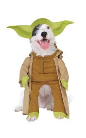 tiger halloween costumes yoda dog fancy dress star wars scifi film pet puppy animal