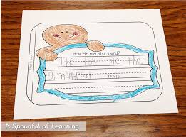 gingerbread writing paper a spoonful of learning gingerbread man today we read the gingerbread girl by lisa campbell ernst what an absolute adorable story we sequenced the story on our gingerbread girl anchor chart