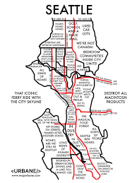 Map Of Washington Cities by 8 Maps That Show Each City By Stereotype City Maps Buzzfeed And