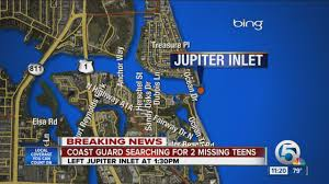 Map Of Jupiter Florida U S Coast Guard Searching For Two Missing Teens Aboard 19 Foot