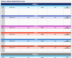 Plan Social Media by Free Marketing Plan Templates For Excel Smartsheet