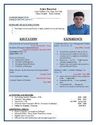 Sample Resume Format For Bcom Freshers by Surprising Inspiration Sample Resume Formats 1 Download Resume