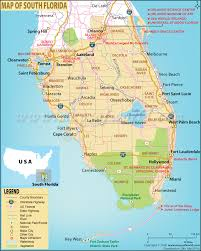 United States Map Major Cities by Map Of South Florida South Florida Map
